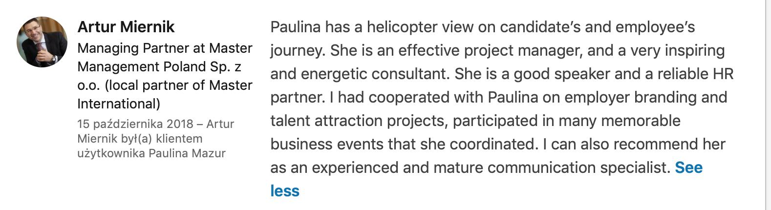 konsultant employer branding Paulina Mazur