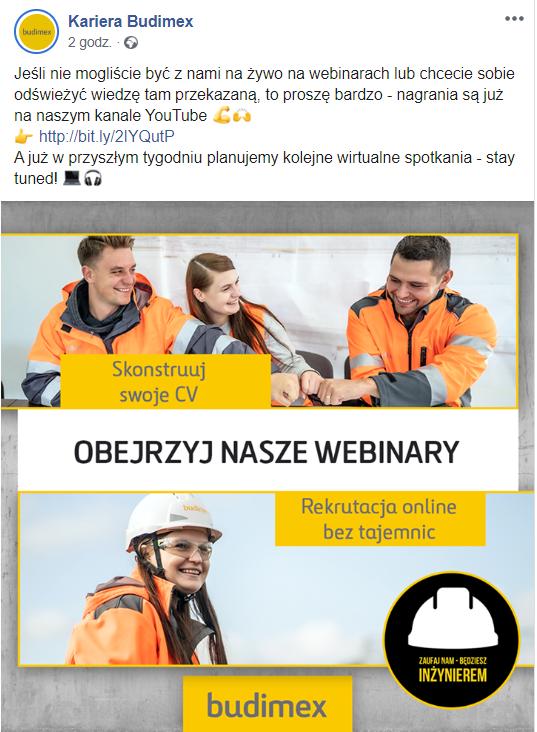 screen z fanpage Kariera Budimex