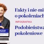 Fakty i nie-mity o pokoleniach podobieństwa infografika Paulina mazur