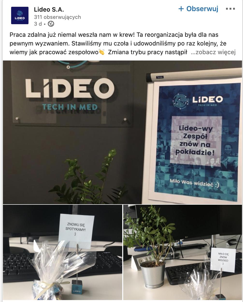 Lideo SA Linkedin page