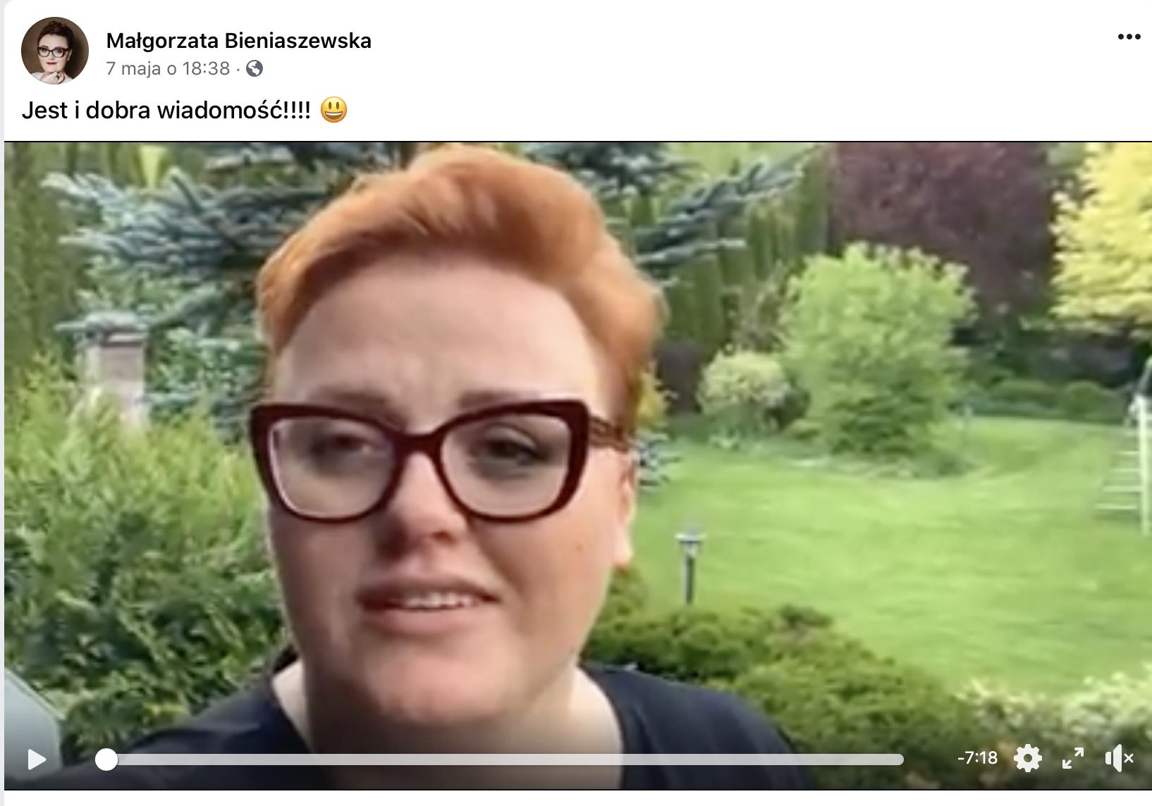 Małgorzata Bieniaszewska Facebook
