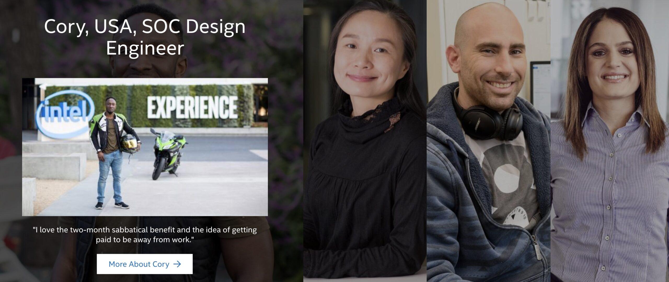 Intel strona z pracownikami