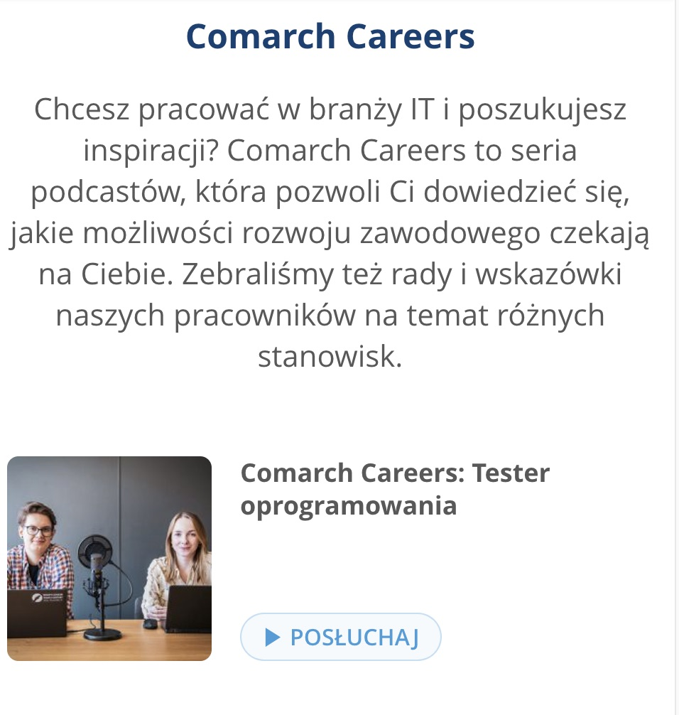 Comarch podcast