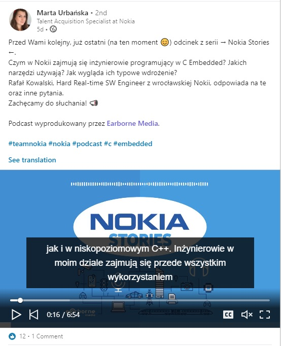 Nokia post o Podcaście